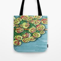 plant Tote Bags featuring plant by Onde di Tela by Antonella Franco