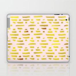 Gold & Light Pink Geometric Pattern Laptop & iPad Skin