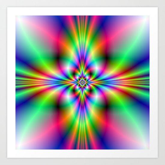 Neon Cross Art Print