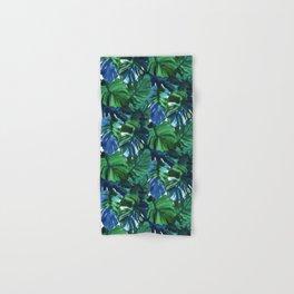 Palm Leaf Blue Green Hand & Bath Towel
