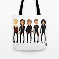 cargline Tote Bags featuring Black Out by cargline