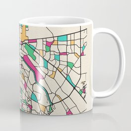 Colorful City Maps: El Paso, Texas Coffee Mug