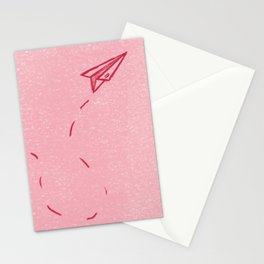 Paper Airplane Kiss Stationery Cards