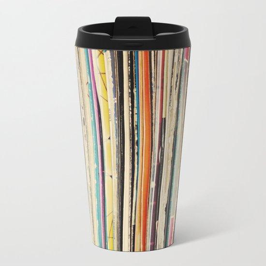 Record Collection Metal Travel Mug