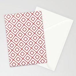 Red Diamond Pattern 2 Stationery Cards