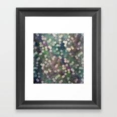Magical Lights Silver Tone Pattern Framed Art Print