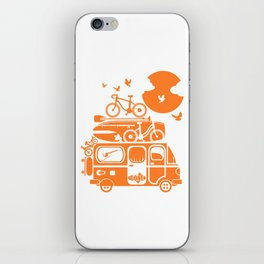 Funny family vacation camper iPhone Skin
