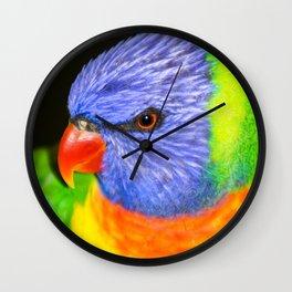 Rainbow Lorikeet Wall Clock