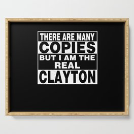 I Am Clayton Funny Personal Personalized Fun Serving Tray