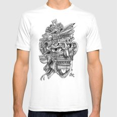 Fright 3 White SMALL Mens Fitted Tee