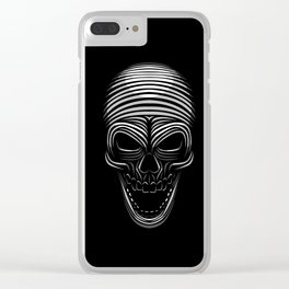 Tribal Skull Clear iPhone Case