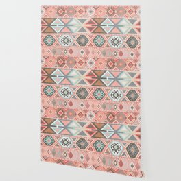 Aztec Artisan Tribal in Pink Wallpaper