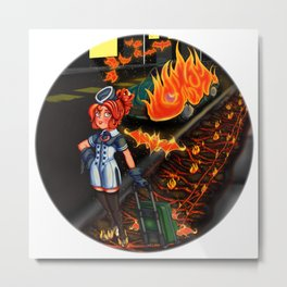 Lovecraft Cuties Set 01: Cynthiuh The Living Flame Metal Print