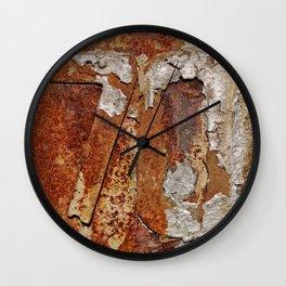 Very old rusty metal wall surface Wall Clock
