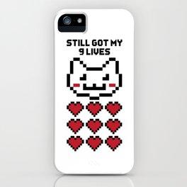 9 Lives Cat Gamer Design iPhone Case