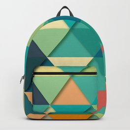 Colorful triangular pattern Backpack