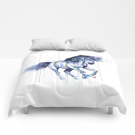 Unicorn - Unicorn Dreams - Colorful Watercolor Unicorn Painting Comforters