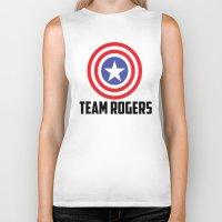 steve rogers Biker Tanks featuring Team Rogers by chrismathew_