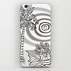 Palms and Waves iPhone & iPod Skin