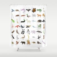 transformer Shower Curtains featuring Animals by Anthony Massingham