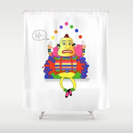Life is a juggle! Shower Curtain