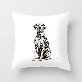 Cute Dalmatian 7 Throw Pillow