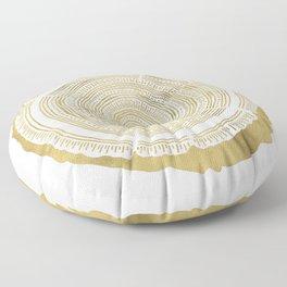 Douglas Fir – Gold Tree Rings Floor Pillow