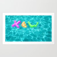 pool Art Prints featuring Pool by yingxew