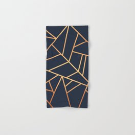 Copper and Midnight Navy Hand & Bath Towel