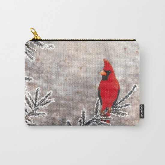 The Red Cardinal in winter Carry-All Pouch