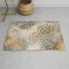 Concrete and Gold Rug