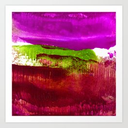 Encaustic Abstract No.27J by Kathy Morton Stanion Art Print