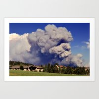 Black Forest Fire Art Print