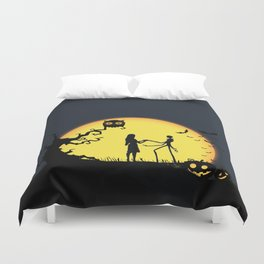 Jack and Sally-Nightmare Duvet Cover