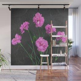 Pinks on Slate Wall Mural