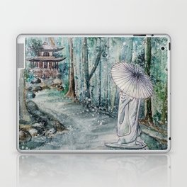 Silence (Watercolor painting) Laptop & iPad Skin