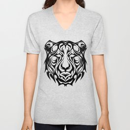 Trbal Tiger Unisex V-Neck