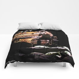 Live weird piano Comforters
