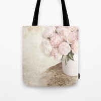 shabby chic Tote Bags featuring Shabby by Lisa Smith