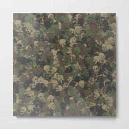 Skull camouflage Metal Print