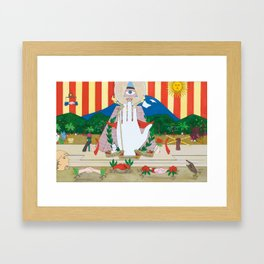 Peace to all Hands Framed Art Print