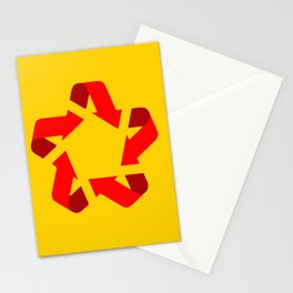 Recycle red star Symbol of new communism Stationery Cards