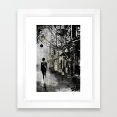 china town walk Framed Art Print
