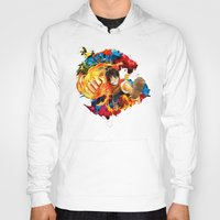 luffy Hoodies featuring Luffy Attack by feimyconcepts05