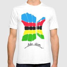 bike shirt. White MEDIUM Mens Fitted Tee