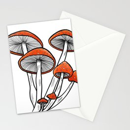 Resilient but Fragile magically cute mushrooms Stationery Cards