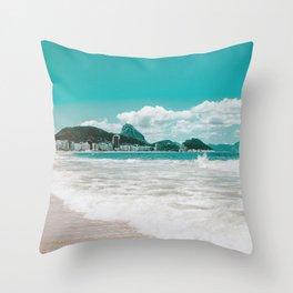Sugar Loaf from Copacabana Throw Pillow