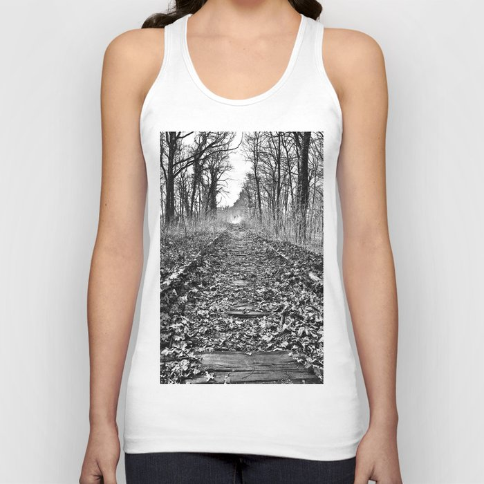 tracks in the forest Unisex Tank Top
