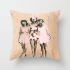 Imaginary Friends- Playmates Throw Pillow