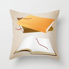 Books with background Throw Pillow